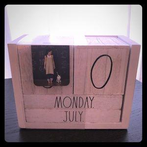 Rae Dunn block calendar